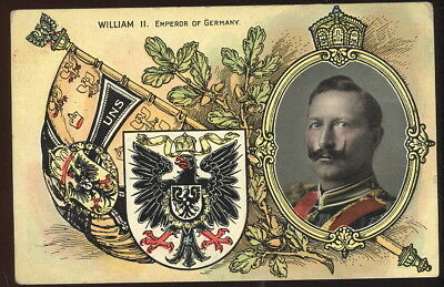 Early Art Post Card, William Ii, Emperor Of Germany