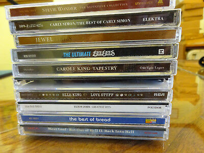 Lot of 12 Soft Rock Pop Music CDs (PRE-OWNED, 9 singles + 2-disc set + extra CD)