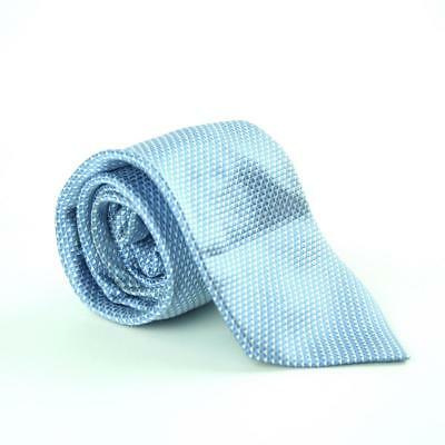 Cavenagh Of London 100% Silk Mens Blue Geometric Wide Fit Tie Clothes, Shoes & Accessories