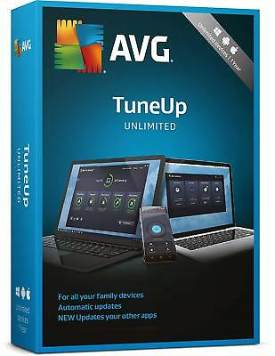 AVG PC TuneUp 2019, Unlimited Devices 2 Year Retail License (PC/Mac/Android)
