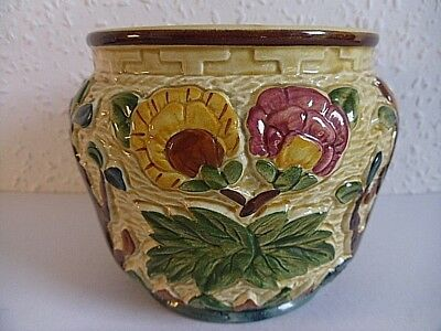 Vintage H.J.Wood Indian Tree Hand Painted Planter. Staffordshire Earthenware.