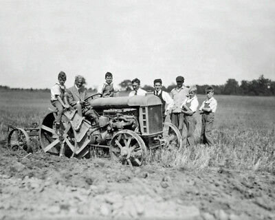 1918 Ford Inventor HENRY FORD @ Firestone Farm Glossy 8x10 Photo Fordson Tractor