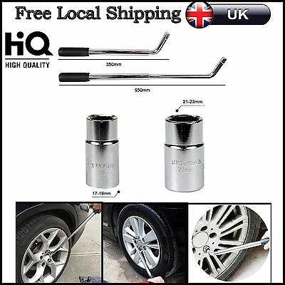 4 Sizes Tyre Remover Extendable Wheel Brace Car Van 17 19 21& 23mm Socket Wrench