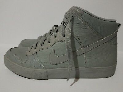 new concept ef007 bbf41 Nike Dunk High Ac Grey Perf Pack 398263-004 Light Gray Sz 10.5