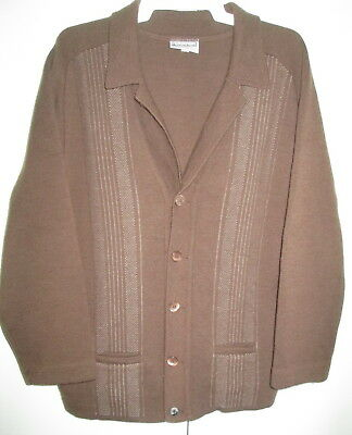 Vintage Crestknit Cardigan Size 20 Pure Wool  To Fit Chest 105cms