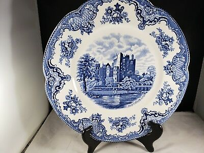 """Johnson Brothers """"Old Britain Castles"""" Blarney Castle 10 inch Blue Plate"""