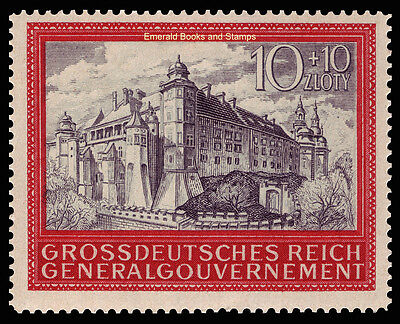 EBS Generalgouvernement 1944 5th Anniversary Occupied Poland Michel 125 MH*