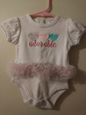 Nursery Rhymes one piece girls 6 months embroidery adorable toole hearts snaps C
