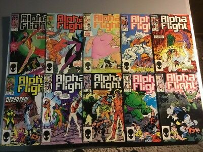 Alpha Flight #19 21  22 23 24 26 27 28 29 30 Hulk Key X-men (Feb 1985, Marvel)