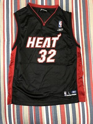 86ee25219 ... discount code for mens reebok authentic shaquille oneal miami heat  swingman jersey youth large e66af 509ec