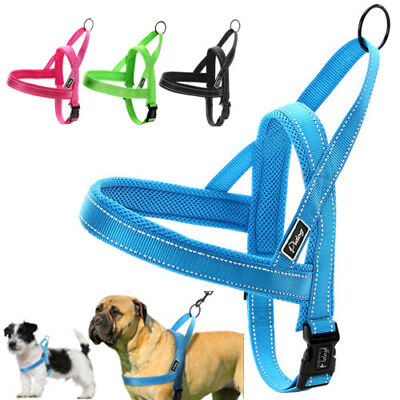 No Pull Reflective Adjustable Dog Harness with Handle Yorkie Rottweiler XXS-L