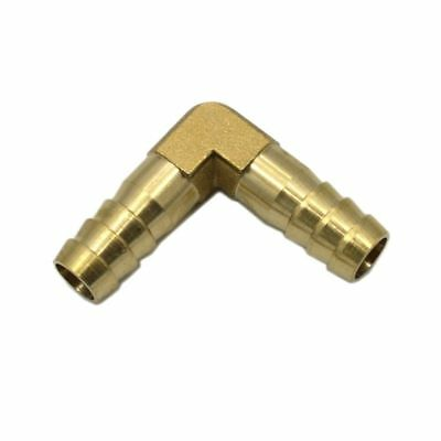 2X Brass Hose Barb 90 Degree Right Angle Elbow Fitting 10mm Hose Gas Fuel Water