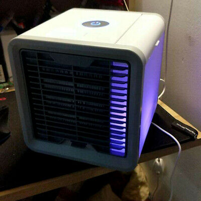 Compact Mini Air Conditioner Personal Space Cooler Desk Fan For Home Office Room