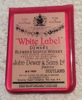 Rare Dewar's White Label Blended Scotch Whisky Mini Mirror Schenley Import Co