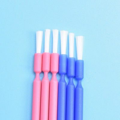 100 Pcs/Pack Dental Disposable Micro Applicator Brush Stick Bendable Blue/Pink