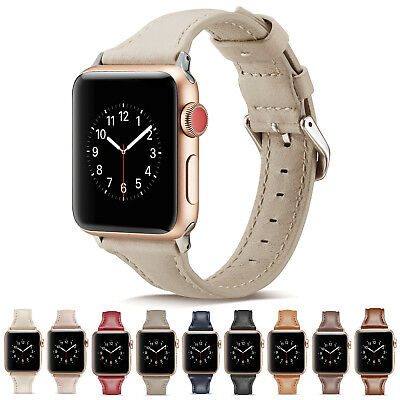 40/44mm Slim iWatch Leather Band Women Strap for Apple Watch Series 6 5 4 3-1 SE