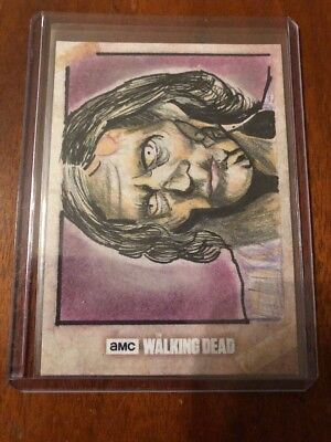 2018 Topps Walking Dead RTA SKETCH CARD 1 OF 1 ART BY Edward Santia