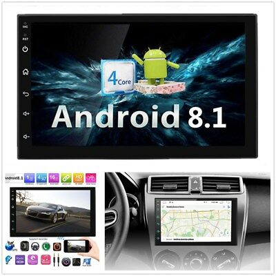 """Android 8.1 7""""1080P 1GB+16GB Touch Screen Car Stereo Radio GPS Mirror Link OBD"""