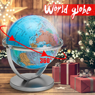 18cm 360° Rotating World Globe Earth Map Student Educational Tool Kids Toy Gift