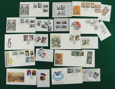 Greece,1982,Greek FDC complete set each set with separate STAMPS,full year.