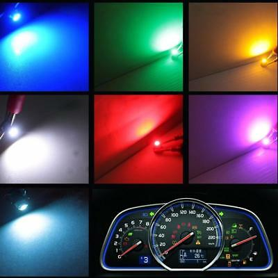 10Pcs T3 LED Car Bulbs Neo Wedge Climate Gauges Dashboard Control Lights SY ~