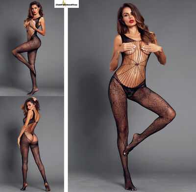 Hot Reizwäsche Fishnet Body Stocking Catsuit Netz Body Unterwäsche |H| 790001-2