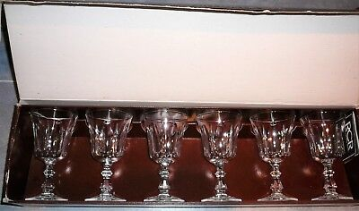 RCR Royal Rock Crystal Wine Goblets 15cm 24% Lead Linea Victoria Vintage Glasses
