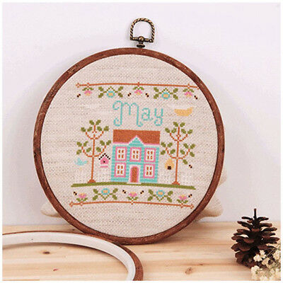 3Pcs Imitated Wood Circle Set Round Flower Hoops Cross Stitch Hoop Ring LT