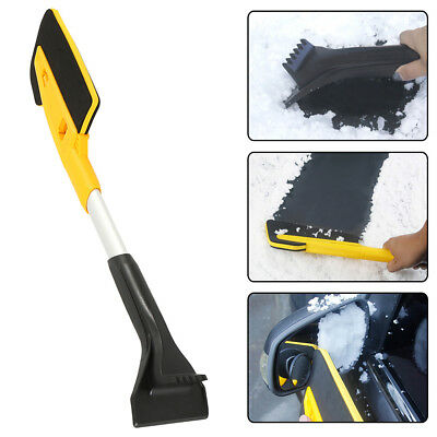 Extendable Snow Brush w/ Sponge Foam Grip Ice Scraper Car Scrape Frost and Ice