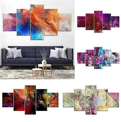 Modern Abstract Canvas Print Painting Framed Home Decor Wall Art rr Poster 5Pcs