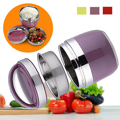 1.5L Insulated Lunch Box Food Storage Container Thermo Server Stainless Thermal