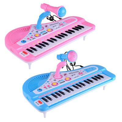 Kids Electronic Organ 37-Key Toy Keyboard Piano Musical Instrument With Mic