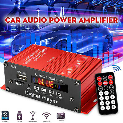 200W HIFI Digital Bluetooth Stereo Audio Power Amplifier AMP AUX FM Mic MP3 Car
