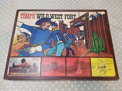 Boxed Vintage Timpo Wild West Fort. 1970's. Excellent condition. With figures.