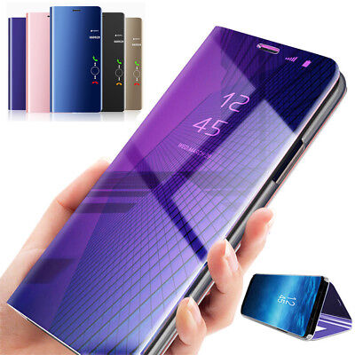 For Huawei P20 Pro/Lite 360° Clear View Case Cover Mirror Flip Stand Bag Shell
