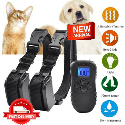1000 Feet Electric Pet Dog Training Shock Collar No Bark Waterproof LCD Remote