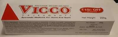 VICCO TOOTHPASTE 200gm (1 or 2, you choose)