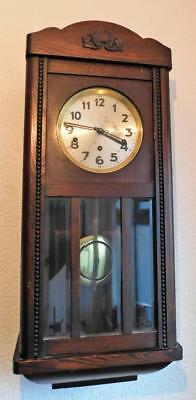 oak cased westminster chiming wall clock