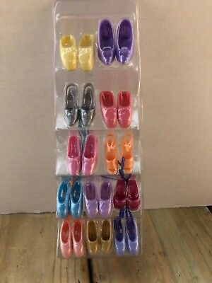 Barbie Doll Shoes Pkg of 12 New Pairs Of Assorted Shoes - NEW In PKG