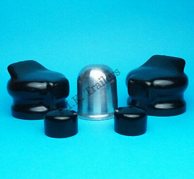 Alloy Aluminium Tow Ball Cover with 2 Plug & Socket Covers - Caravan Motor Home