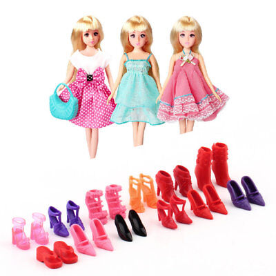 Colorful Assorted Shoes Different Styles Fashion 12 pairs Cute For Barbie Doll A