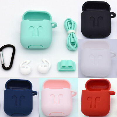 Slim Silicone Shockproof Protective Case Cover Skin For Apple AirPods Earphones
