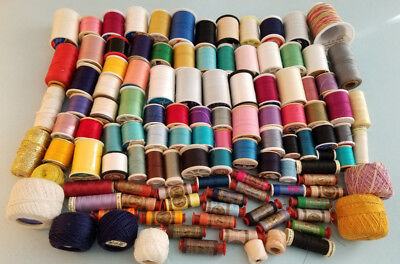 Big Lot of  112 SPOOLS of Thread - MANY COLORS ALL IN GREAT CONDITION
