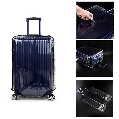 Universal Transparent Dust Cover Protective Luggage Suitcase Cover Case Travel