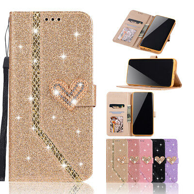 Bling Glitter Leather Case Magnetic Flip Wallet Cover For iPhone XS Max XR 6 7 8