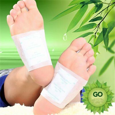 10 x Detox Kinoki Foot Patch Pad Natural plant Herbal Toxin Removal Weight AZ