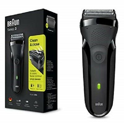 Braun Series 3 300s Men's Electric Shaver/Rechargeable Electric Razor,Black NEW