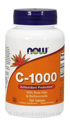 NOW Foods  Vitamin C-1000 with Rose Hips & Bioflavonoids 100 or 250 tablets