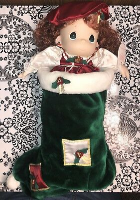 PRECIOUS MOMENTS HOLLY DOLL 1999 Christmas Stocking Doll New Without Package
