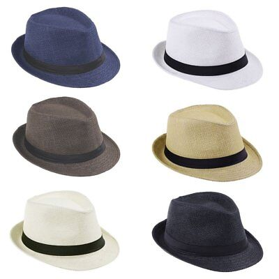 Women Kids Girls Boys Summer Sun Hat Casual Solid Color Panama Straw Hat LK